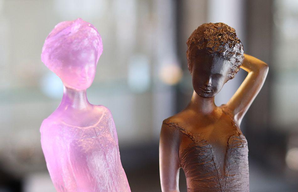 louise sculpture nue Daum France