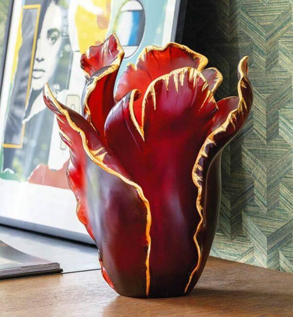 vase-tulipe-or-rouge-cristal-daum-france