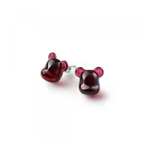 boucles-oreilles-bearbrick-rouge-Baccarat