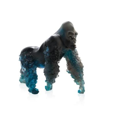 sculpture-Gorille-Dos-argente-bleu-gris-daum-france-2