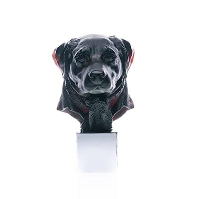 Sculpture Gaspard en pate de cristal Daum France