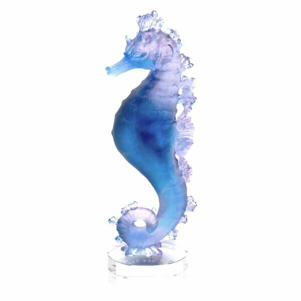 sculpture-hippocampe-cristal-bleu-rose-daum-france