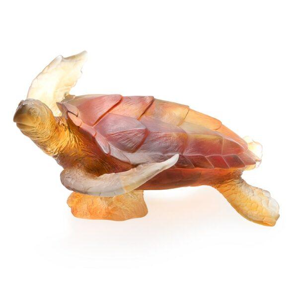 sculpture-tortue-de-mer-cristal-ambre-daum-france