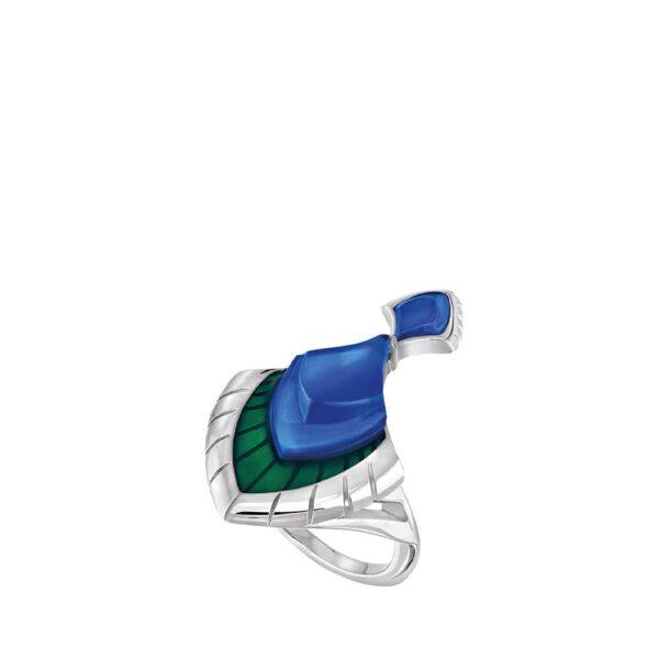 bague paon bleu lalique