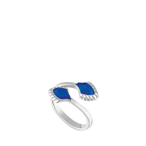 bague paon pm bleu lalique