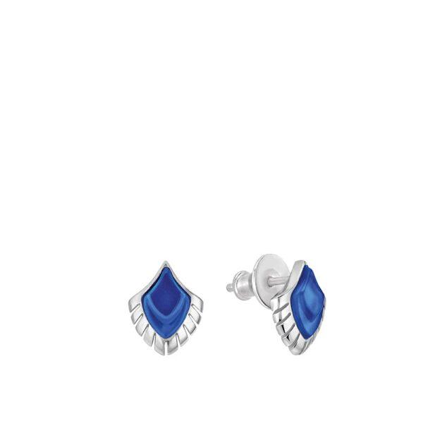 boucles oreilles paon bleu lalique 2