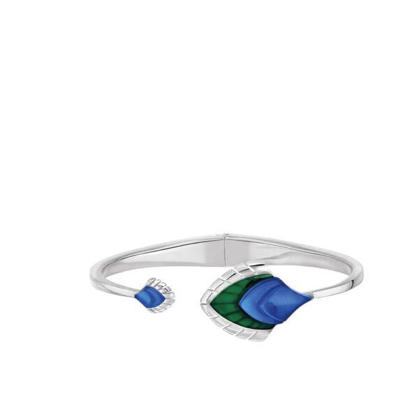 bracelet paon bleu lalique 2