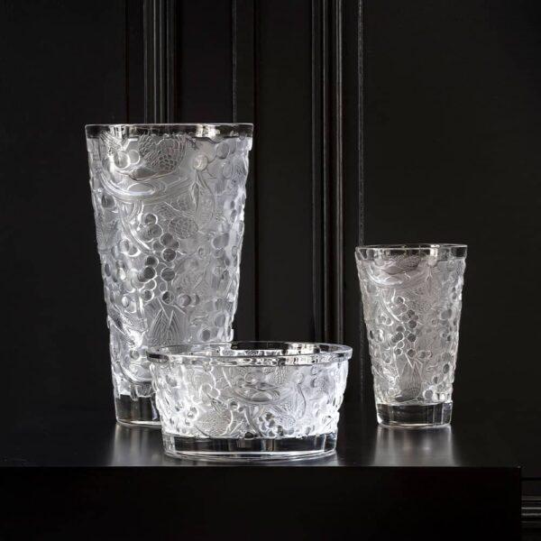 coupe merles raisins cristal clair lalique
