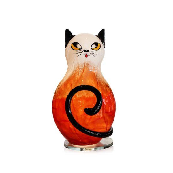 lampe chat ambre cristal lehrer