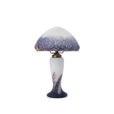 lampe-verre-champignon-violet
