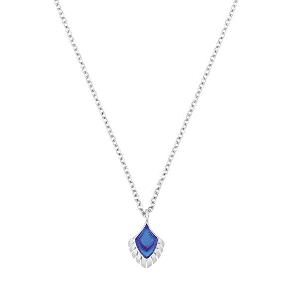 pendentif paon bleu lalique pm