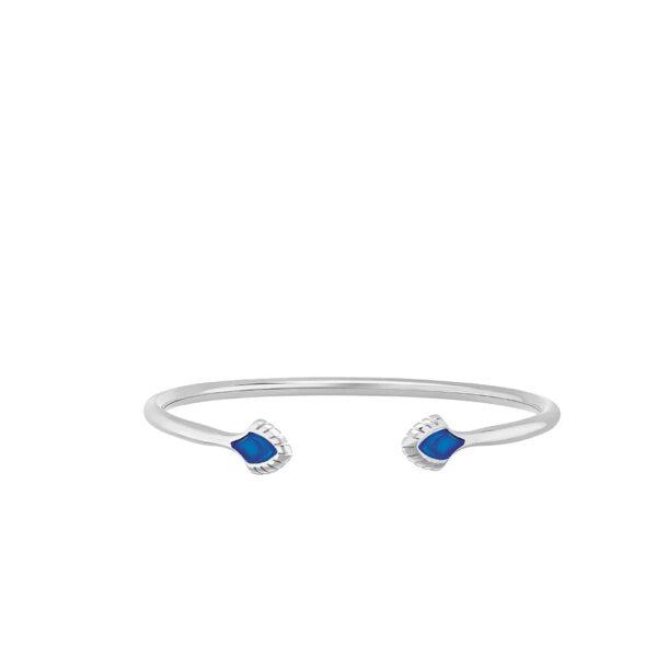 petit bracelet paon bleu lalique