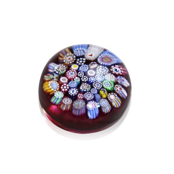 petite sulfure cristal rouge millefiori