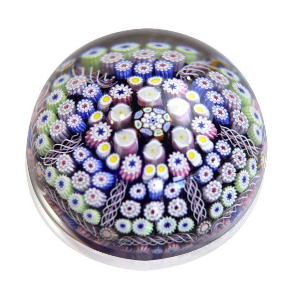 presse papier millefiori cristal multicolor