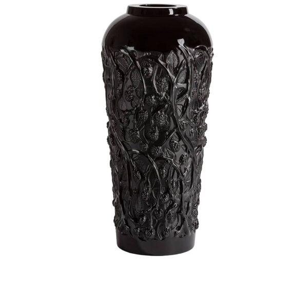 vase mures cristal noir lalique