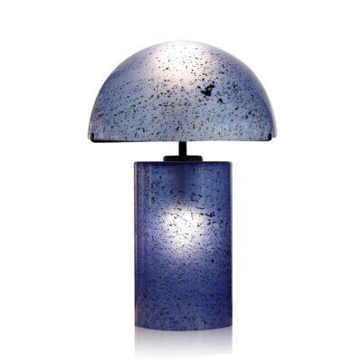lampe-volcania-verre-bleu