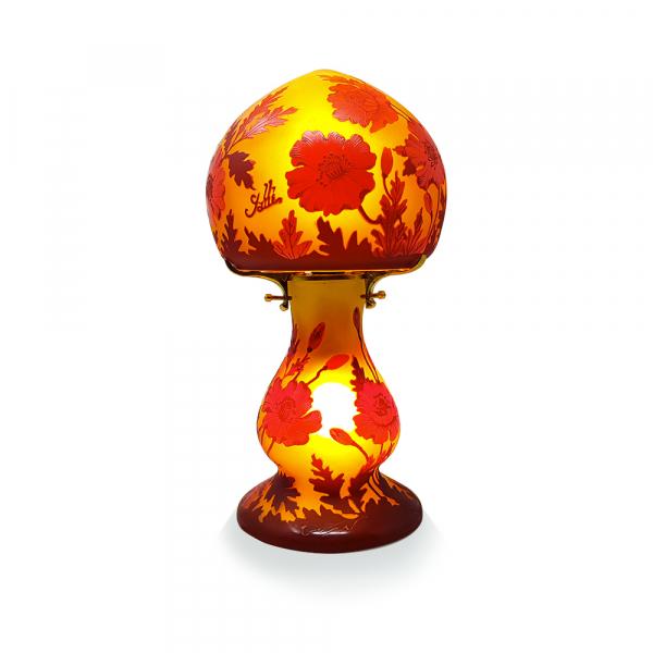 Lampe-Gallé-Typ-florale